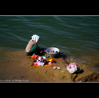 No washing machine on Irrawaddy river - Myanmar