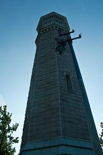 Image of High Bridge Water Tower near Bronx. nyc usa newyork harlem manhattan highbridgewatertower washingtonheights sigma18200 highbridgewaterpark