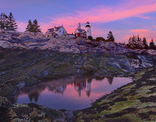 sunset coast image picture pemaquidlighthouse mainelighthouse kevinmcneal