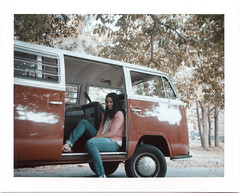 A girl and her Bus