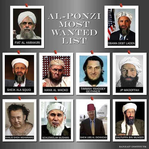AL-PONZI MOST WANTED LIST by WilliamBanzai7/Colonel Flick