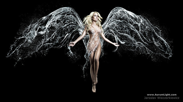 Jaroslav | Aurum Light Studio - Playing with water: THE SILVER ANGEL !