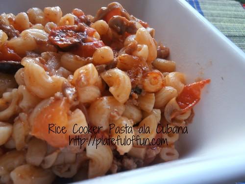 Rice Cooker Pasta ala Cubana