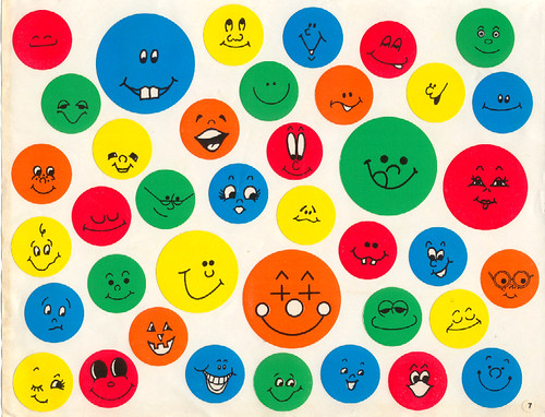 smiley face stickers