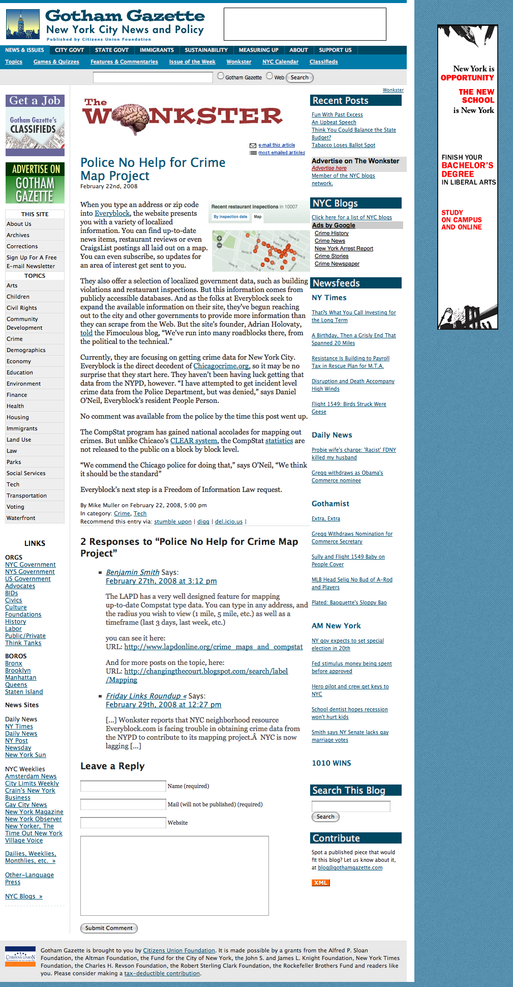 Gotham Gazette - The Wonkster » Blog Archive » Police No Help for Crime Map Project_1234496707882