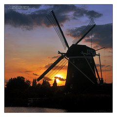 Sunset Windmill (1648 'Prinsenmolen', Rotterdam)