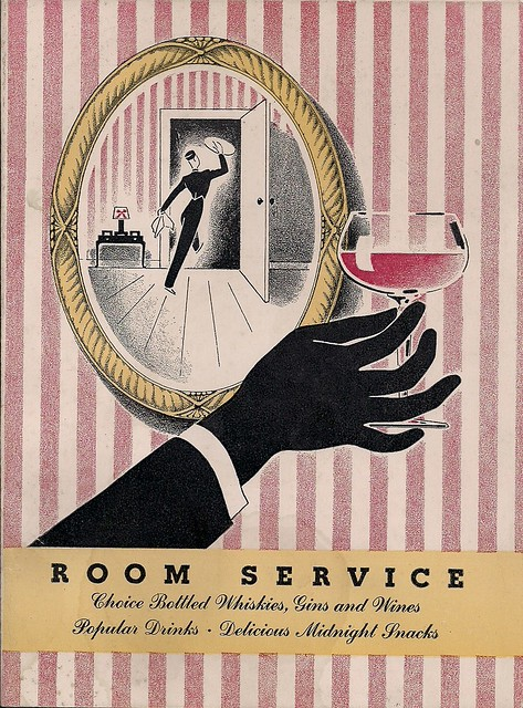 1947 Hotel New Yorker Room Service Menu (Cover 1)
