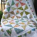 Pinwheel baby quilt all washed and finished!