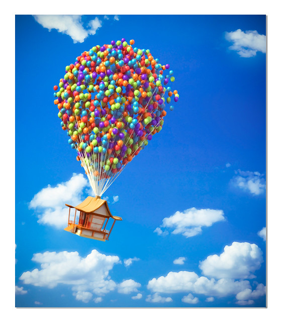 Flying house (Pixar's UP inspiration)