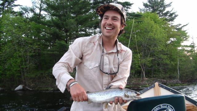 Chris with a nice salmon