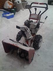 machine(1.0), vehicle(1.0), tool(1.0), snow blower(1.0), iron(1.0),