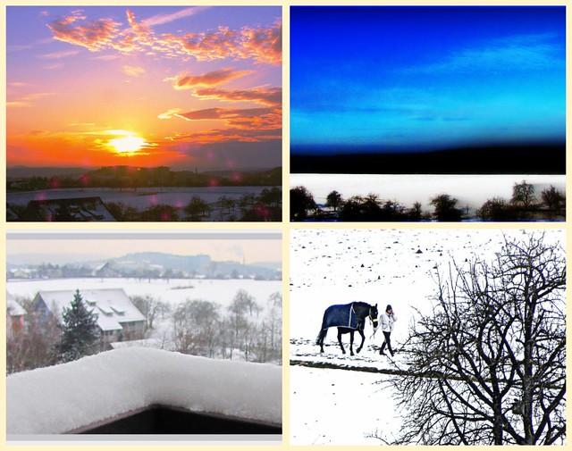 collage : Wintertime in Tübingen