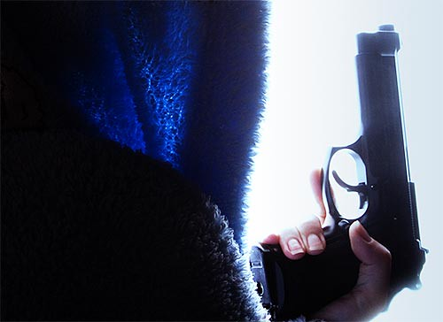 Gal with Gun Backlit and Contrasty 02