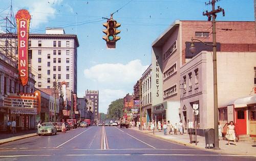 county street ohio pine theater market scene robins oh warren trumbull penneys