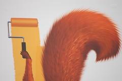 Ecureuil au travail