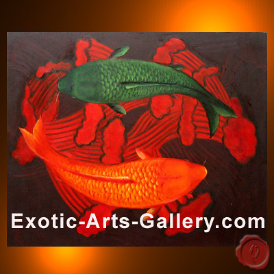 Koi fish painting 17 flickr photo sharing for Exotic koi fish