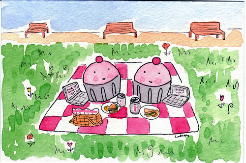Cuppies having a picnic