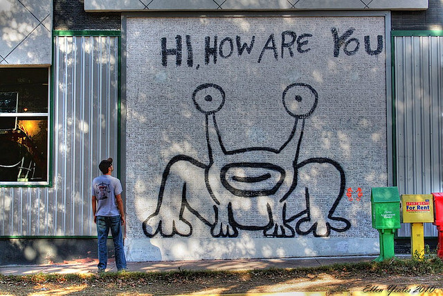 Hi how are you flickr photo sharing for Austin frog mural