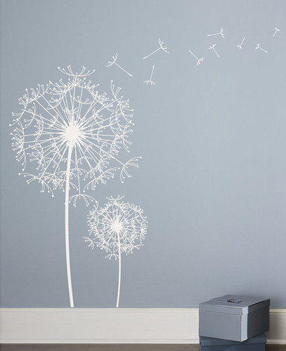 Dandelion wall decal 2017 grasscloth wallpaper - Decorative wall sticker ...