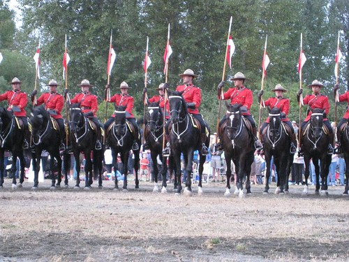 RCMP Musical Ride in Courtenay, BC