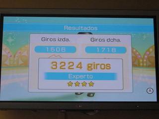 Wii fit 3224 giros en el ULA ULA!!! YUJU