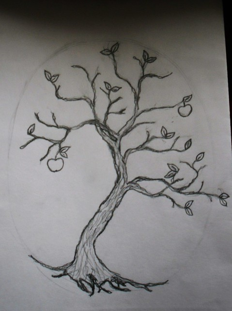 Preliminary sketch for a tattoo for me designed by me The tree is for