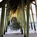 Under The Fishing Pier-Kure Beach NC