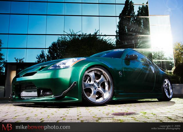 Nissan 350z green