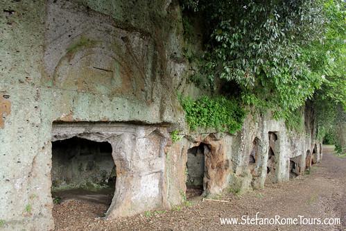Etruscan Necropolis in Sutri, Italy