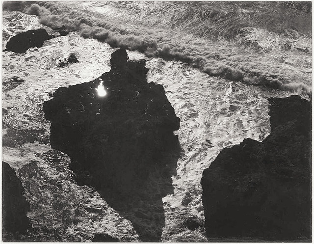 Sun in Rock, Song Without Words, San Mateo County, California, 1947, by Minor White