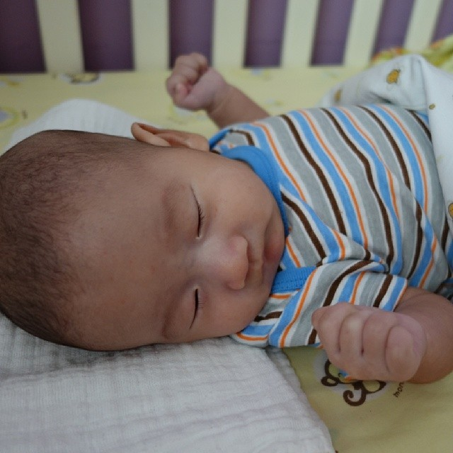 And time for Lucas nap after his milk! Hoping for some peace. Haha.