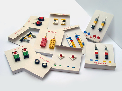 Lego Earrings Mix