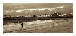 Obrázek Playa de la Victoria u Cádiz. beach sepia monocromo playa arena cádiz playadelavictoria catedraldecádiz campodelsur pacosolís sidiguariach
