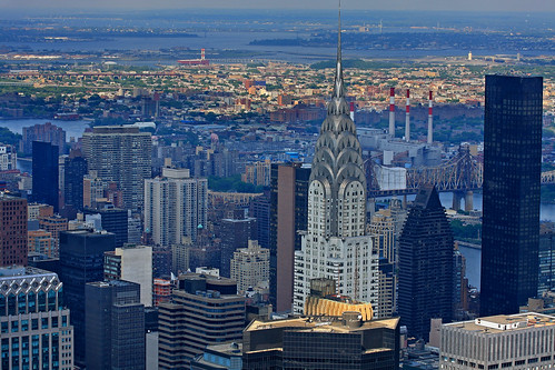 View of Chrysler Building and Trump World Tower from Empire State Building