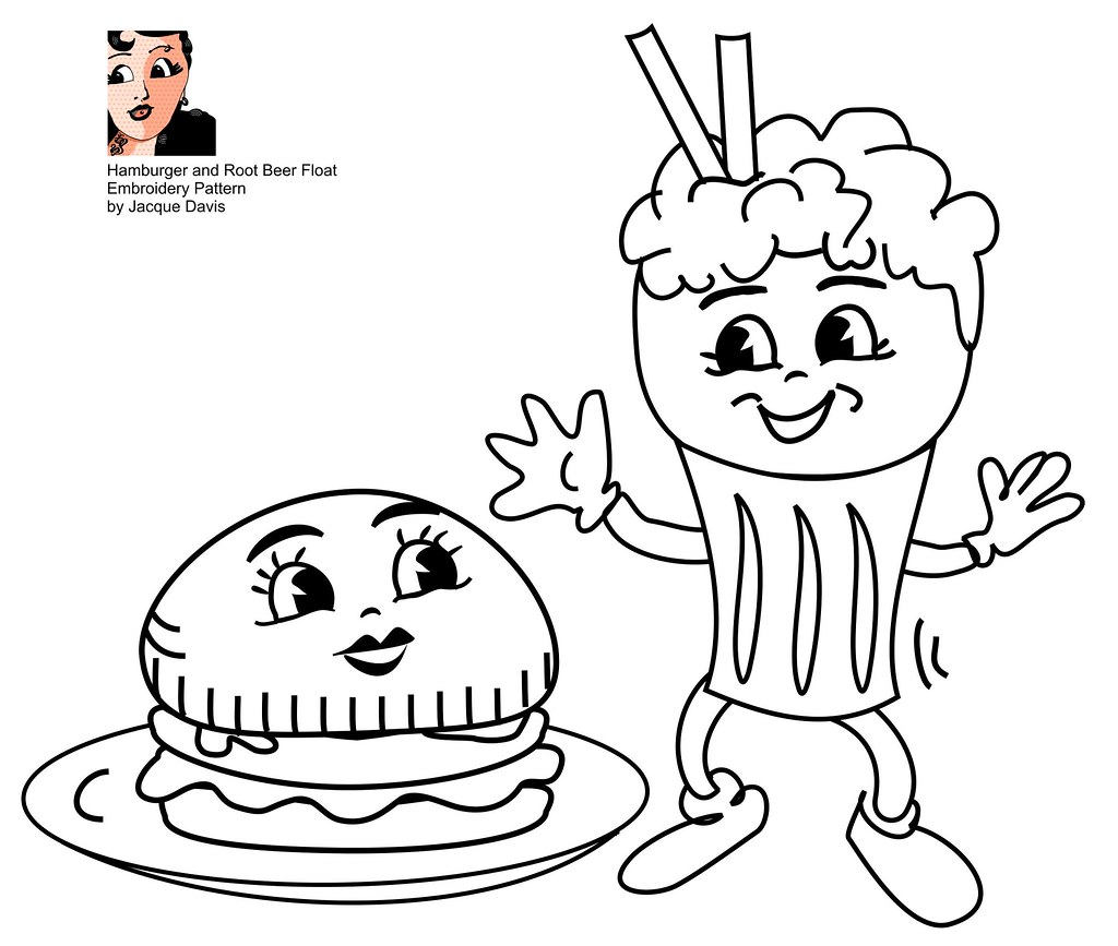 root beer float coloring pages - photo#2