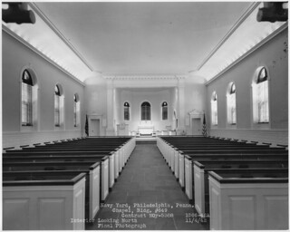 Philadelphia Navy Yard Chapel interior looking towards altar September 1942