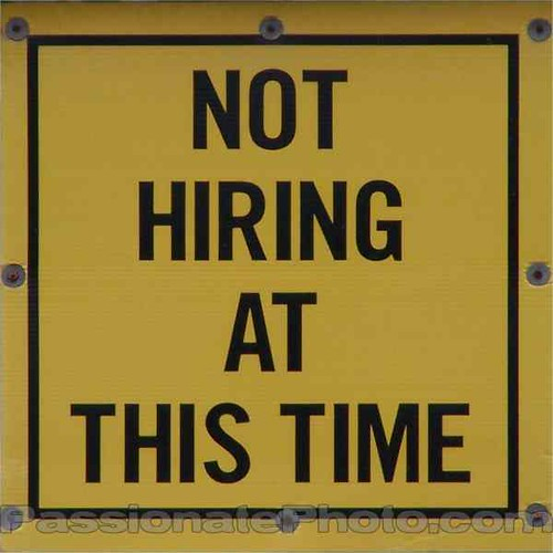Not Hiring Sign
