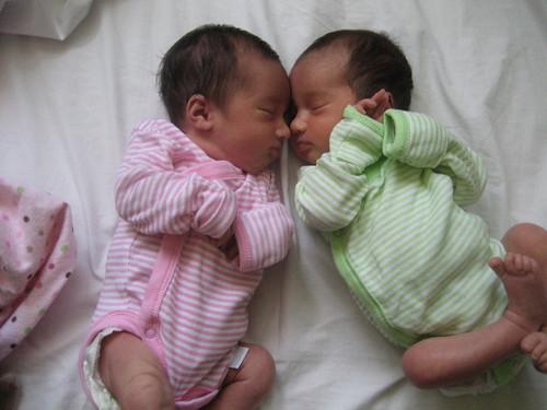 Twins sleeping