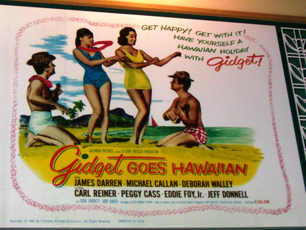 Gidget Goes Hawaiian (1961) comedy musical movie poster ...