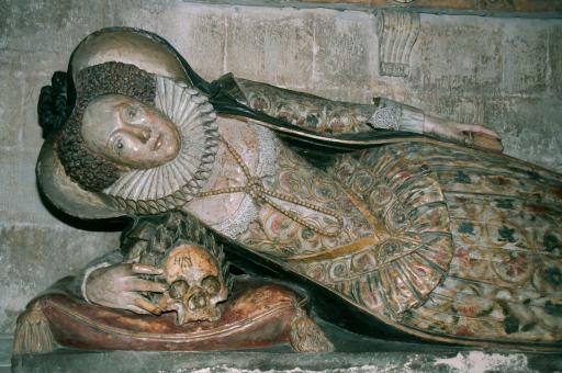 Tomb Effigy of Dorothy Bampfield, Lady Dodderage, 1614