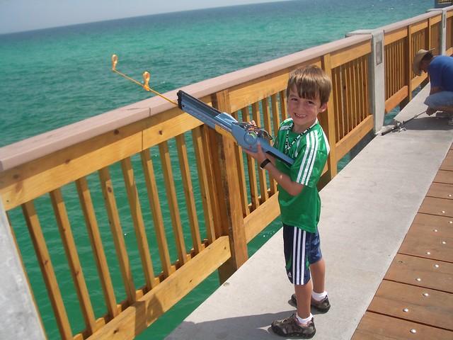 Gehrig fishing off the panama city beach pier flickr for Panama city fishing pier
