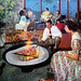 1958--cookout- triangle and big mushroom