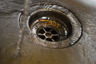 Water in kitchen sink