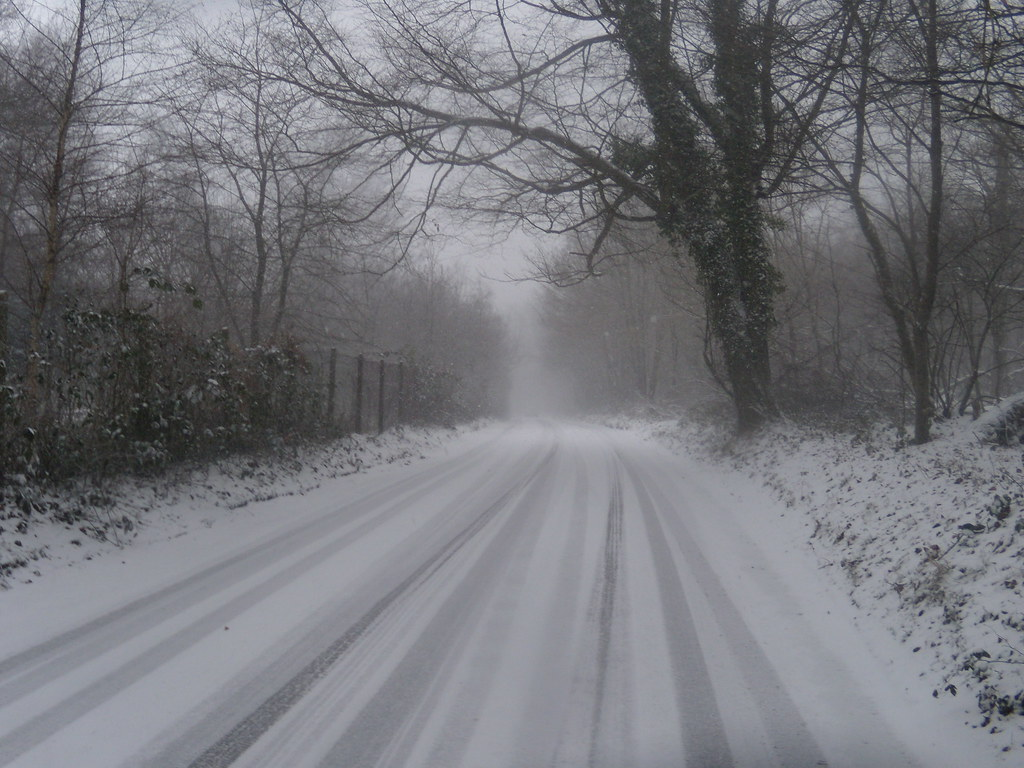 Snowy road Leigh to Sevenoaks