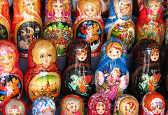 The world famous Russian nesting dolls.