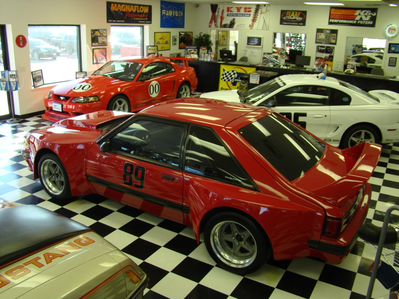 2000 Cobra R, 95 Cobra R and JBA Dominator GTA in our Show Room