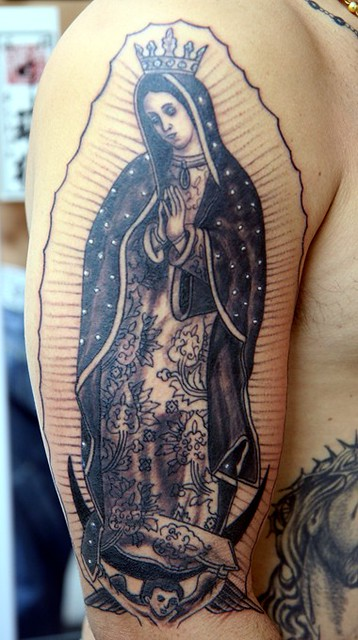 Guadalupe Virgin Mary Tattoo On Arm Virgin Mary Tattoo On Flickr