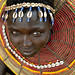 Pokot girl with beaded necklace - Kenya