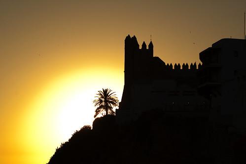 sunset castle canon de landscape ian eos 350d la landscapes spain c espana cadiz wright fin casco frontera antiguo province arcos ianwright finwright finwrightphotographycouk finwrightphotography