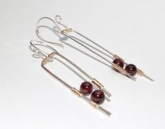 Prairie Garnet Earrings